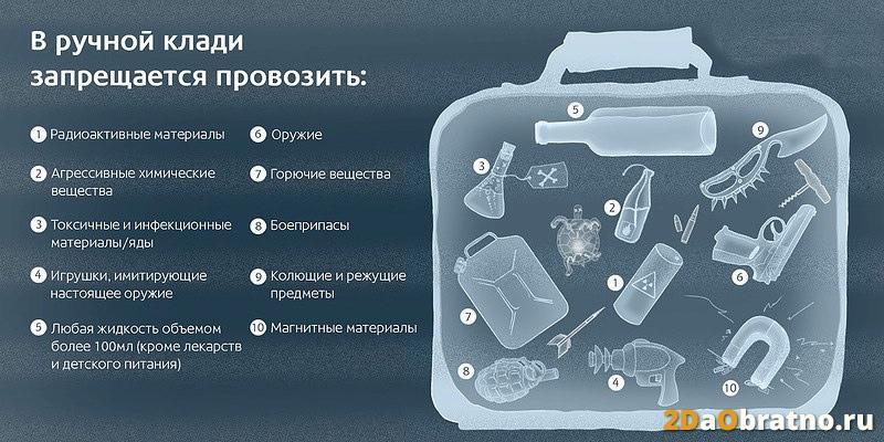 запрещенные предметы в самолет для ручной клади