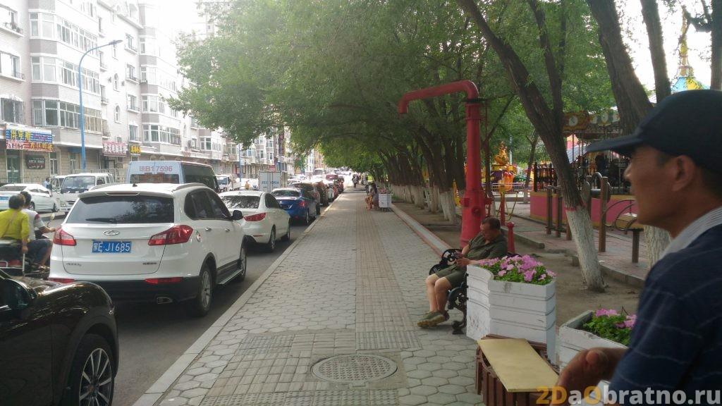 Обычная улица Китайской Маньчжурии